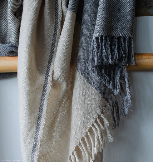 wool shawl dyed with natural dyes for la