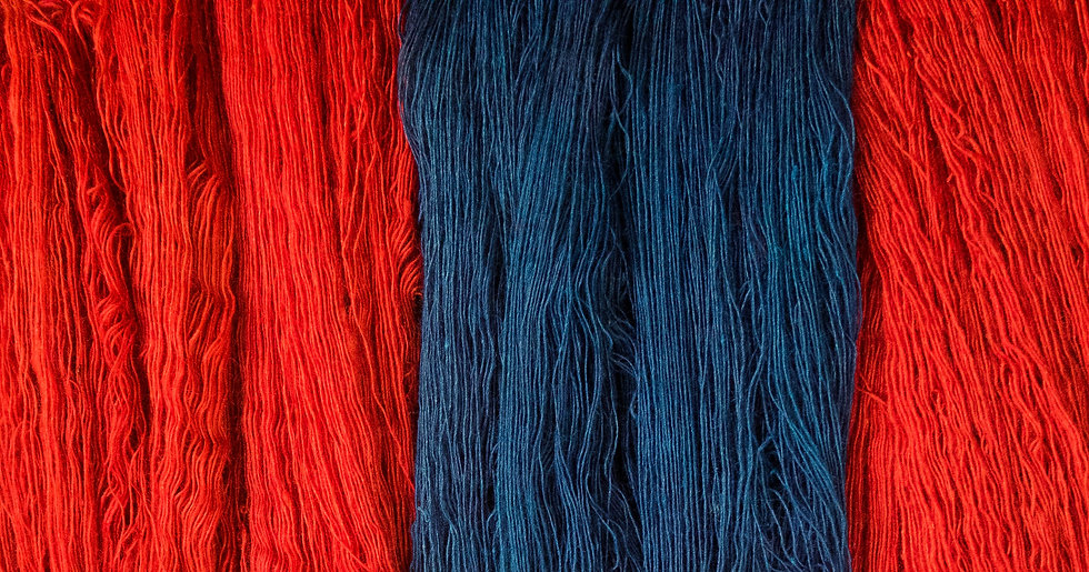 wool and pashmina coloured with natural dyes to make handwoven shawls and stoles