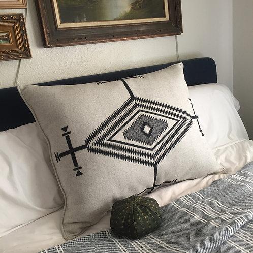 Native Eye White Pillow