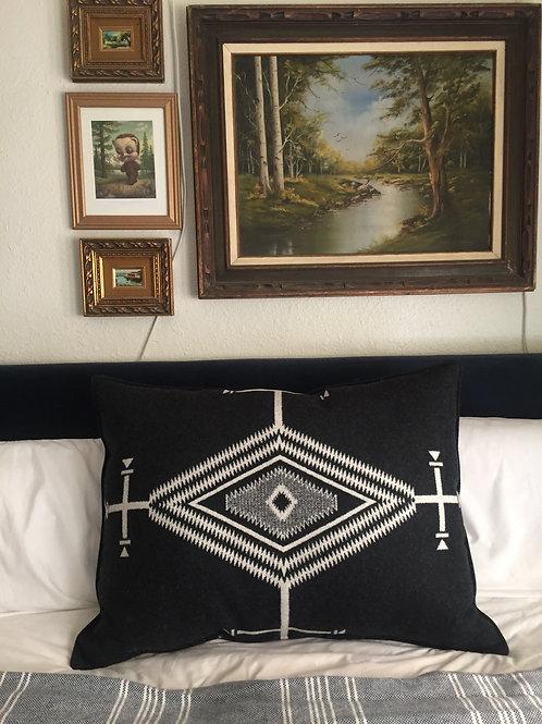 Native Eye Black Pillow
