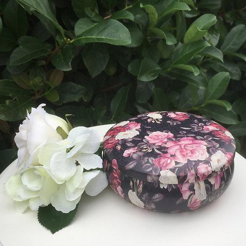 Tin: Dark Pink Floral