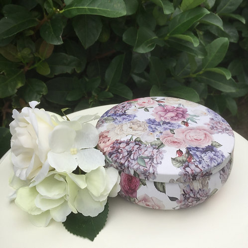 Tin: Pale Pink Floral