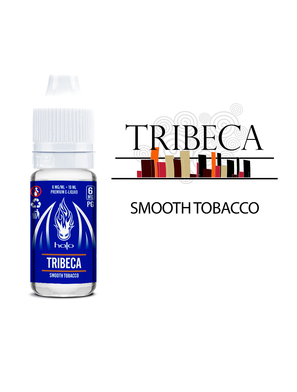 HALO Tribeca Blue Series 50ml Smooth Tobacco