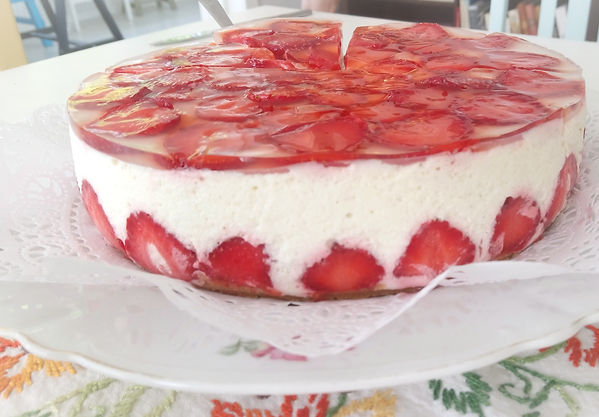 Glutein-free Strawberry Cheesecake