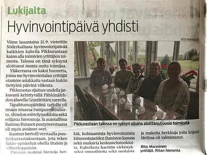 Wellfare happening held by Pikkurastas Working Community