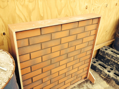 Sample Panel completed for the Waktin Jones Group.  Taylor Maxell Corium brick cladding system Injec