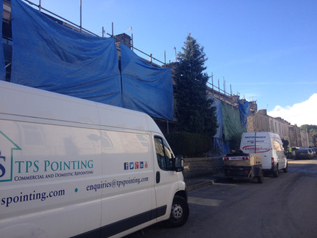 Phase 2 Accrington Regeneration Work First 7 of 300 houses under way.  Repointing & Wet Blasting