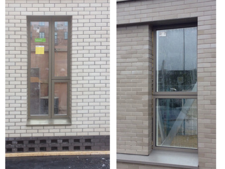 Renakers Sample Panels completed for Cambridge St & Water St for their 5 New Tower Blocks, Manch
