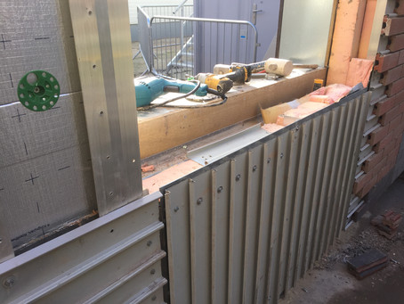 Corium Sample Panel coming along for The Eric Wright Group Manchester Live Project. www.tpspointing.