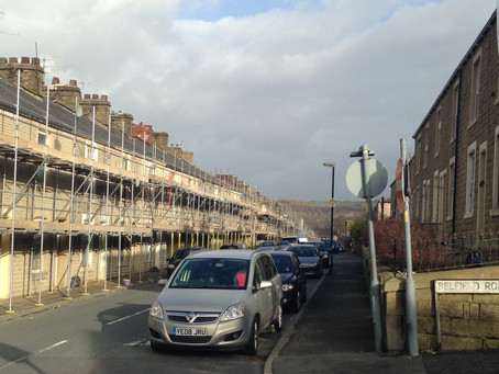 Scaffold Up.  More houses ready for Wet Blasting & Repointing. www.tpspointing.com