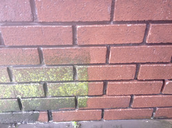 Brick Cleaning before RePointing