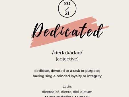 """Dedicated."" My Word For 2021"