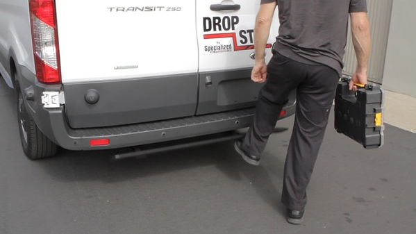 Rear Bumper Step retracted - Ford Transi