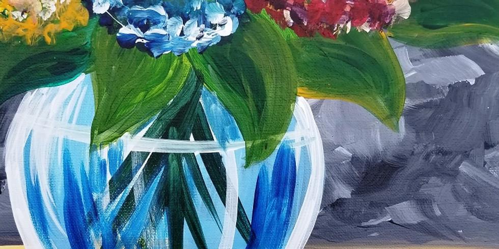 Sip & Paint - Colorful Hydrangea