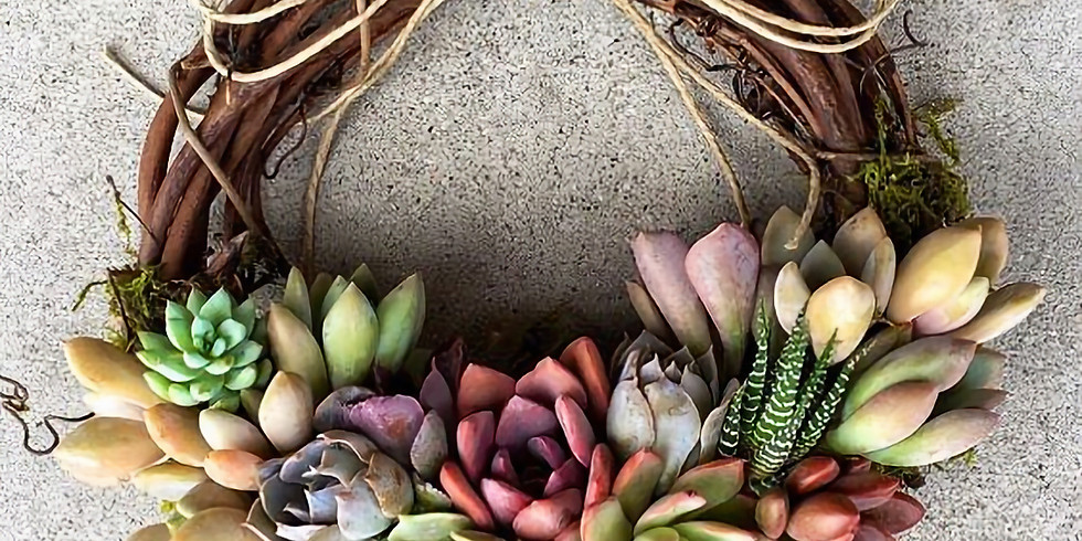 Sip & Create a Succulent Grapevine Wreath