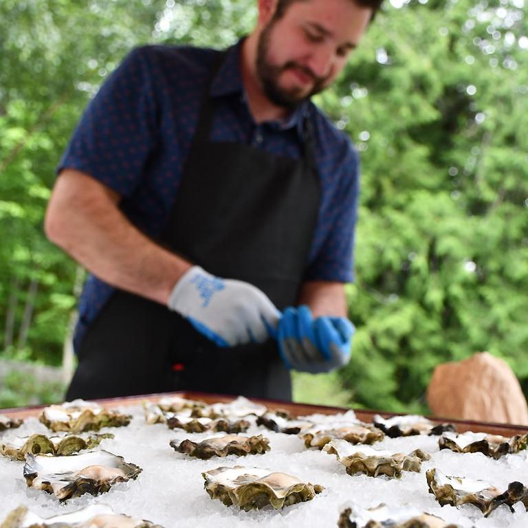 Salish Sea Greens Oyster Bar Pop-Up at Eleven Winery