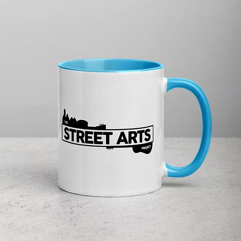 Colour Dip Mug - Black Logo