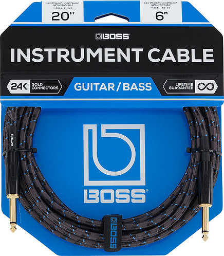 20ft Instrument Cable Braided : Roland