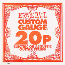 1020 Plain Steel .020 Single String : Ernie Ball