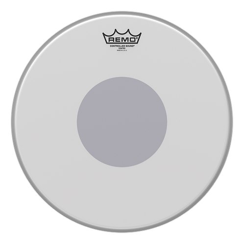 """14"""" Controlled Sound Coated Black Dot Drumhead : Remo"""