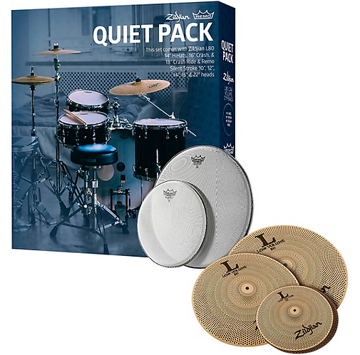 LV468 Low Volume Cymbal Set with Remo Silent Stroke Heads - Zildjian