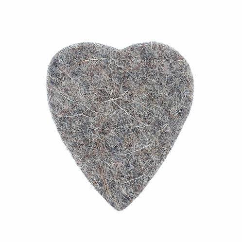 Grey Heart Felt Uke Pick : Timber Tones