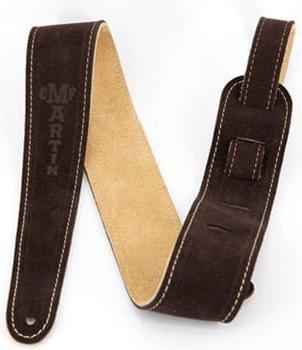 Suede Guitar Strap - Brown : Martin