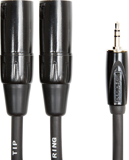 15ft Interconnect Cable-3.5mm-Dual XLR (Male) : Roland