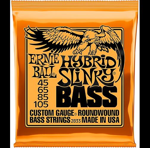 Hybrid Slinky Roundwound Bass Guitar Strings : Ernie Ball