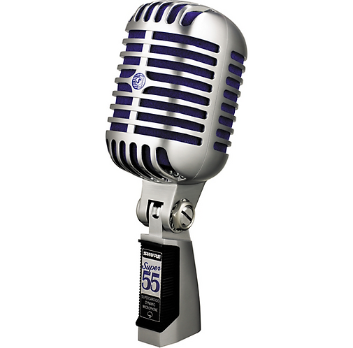Shure : Super 55 Dynamic Microphone