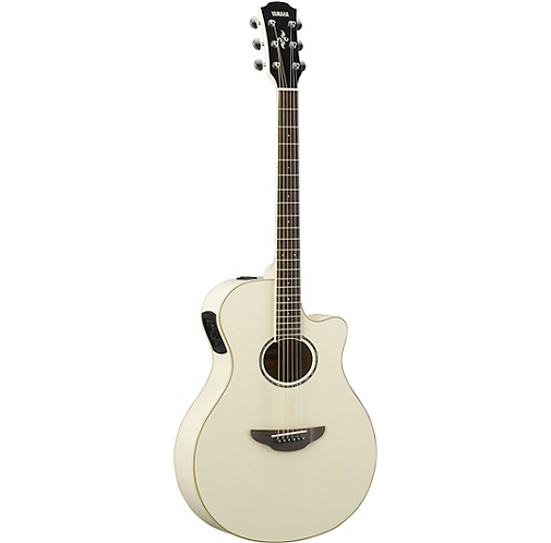 APX600 Acoustic-Electric Guitar - Vintage White - Yamaha