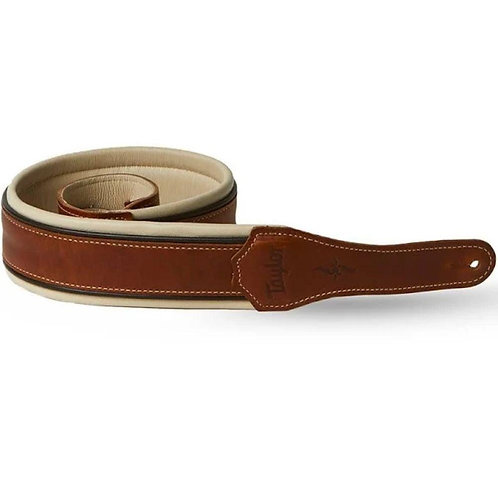 "Renaissance Leather 2.5"" Guitar Strap - Medium Brown - Taylor"