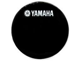 "22"" Black LOGO Bass Drum Head - Yamaha"