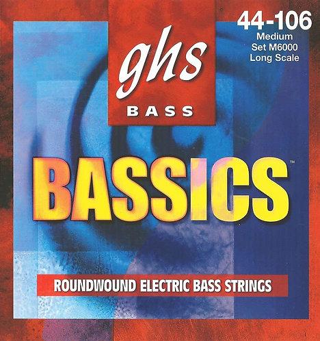 Bassics Roundwound Medium Bass Strings : GHS