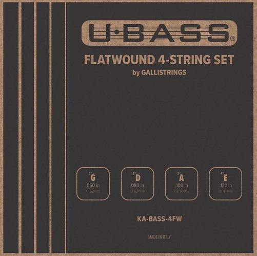 KA-BASS-4FW Flatwound 4 String Set for UBASS Ukulele - Kala