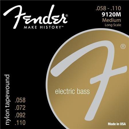 Nylon Tape Flat Wound Bass Strings : Fender