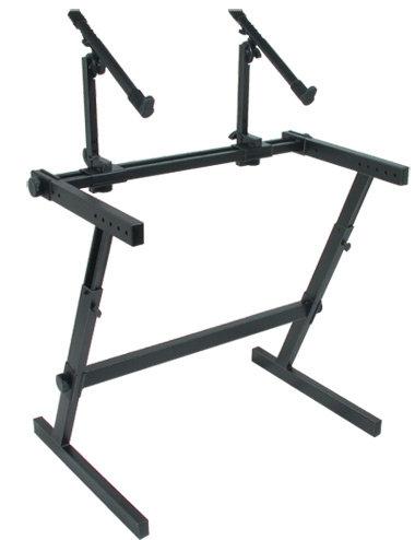 """Z-726 Double Tier """"Z"""" Keyboard Stand : Quik-Lok"""