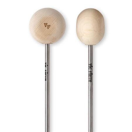 Hard Maple Wood Bass Drum Beater, Radial Head - Vic Firth