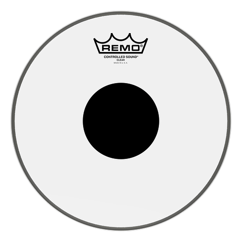 "10"" Controlled Sound Clear Black Dot Drumhead - Remo"
