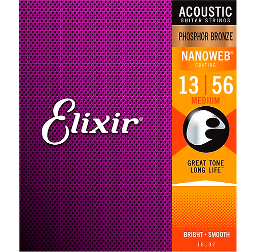 Elixir : Phosphor Bronze NANOWEB - Medium