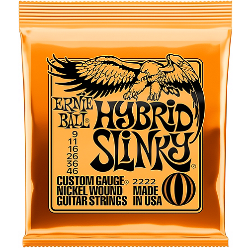 2222 Hybrid Slinky Nickel Wound Electric Strings - .009-.046 : Ernie Ball