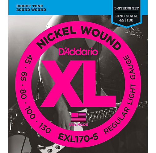 D'Addario : XL Nickel Round Wound 5-String Long Scale