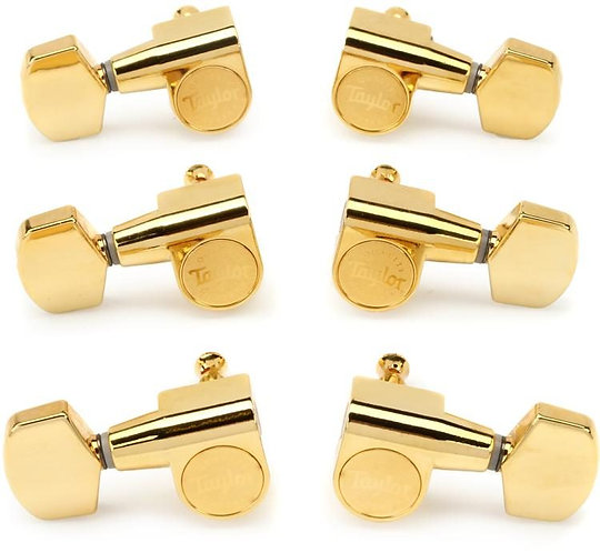 6-string Guitar Tuners 1:18 Ratio - Polished Gold - Taylor