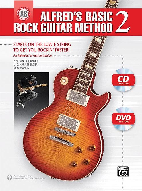 Basic Rock Guitar Method 2 (Book + DVD) : Alfred