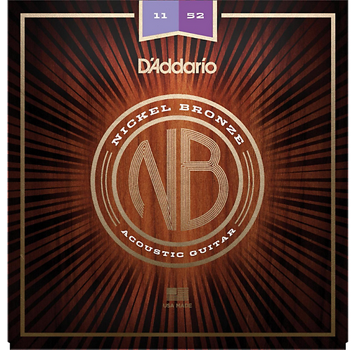 D'Addario : NB1152 Nickel Bronze Custom Light