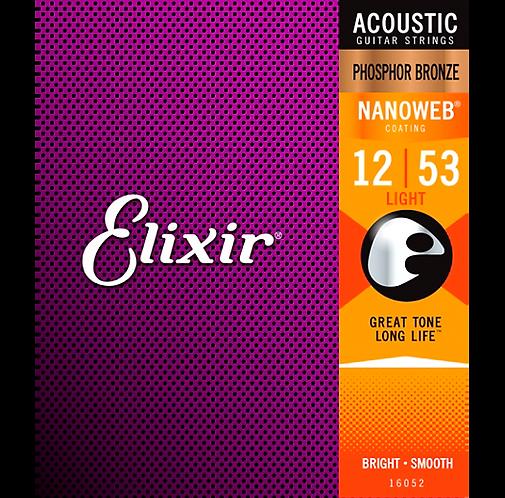 Elixir : Phosphor Bronze NANOWEB - Light