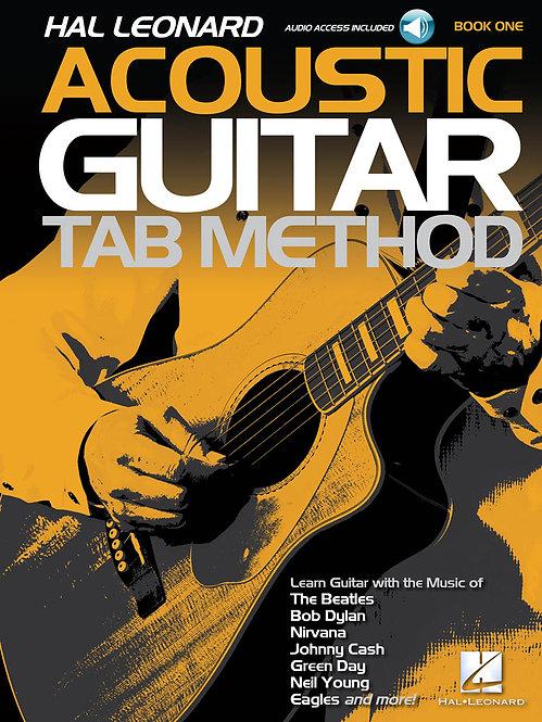 Hal Leonard : Acoustic Guitar Tab Method (Book 1) (Book + Online Audio)