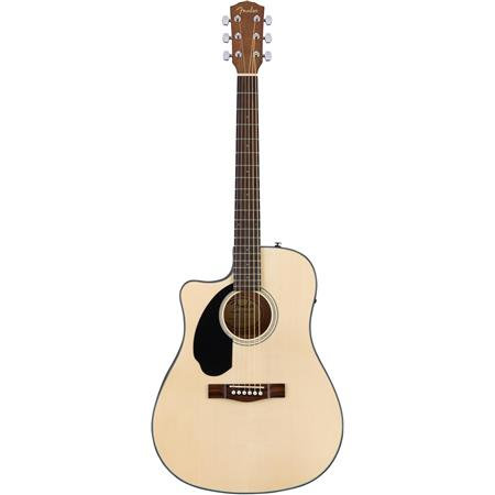 CC-60SCE Concert Left-Handed Acoustic-Electric Guitar Natural - Fender