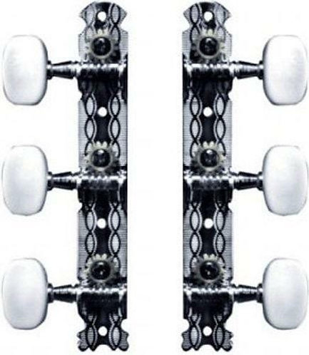 Classic 1/2 Set Steel or Classic Slot head Tuners Plastic Btns : Ping