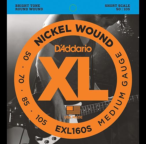 EXL160S XL Short Bass String Set - D'addario